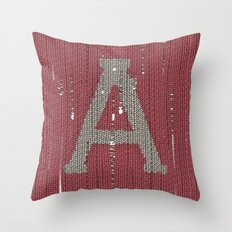 Winter clothes II. Letter A Throw Pillow