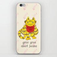 Big Fat Yellow Cat iPhone & iPod Skin