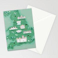 English Estates Map Stationery Cards