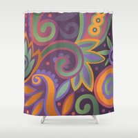 Summer leaves, heavy scented Shower Curtain