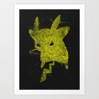 Yellow Monster Art Print