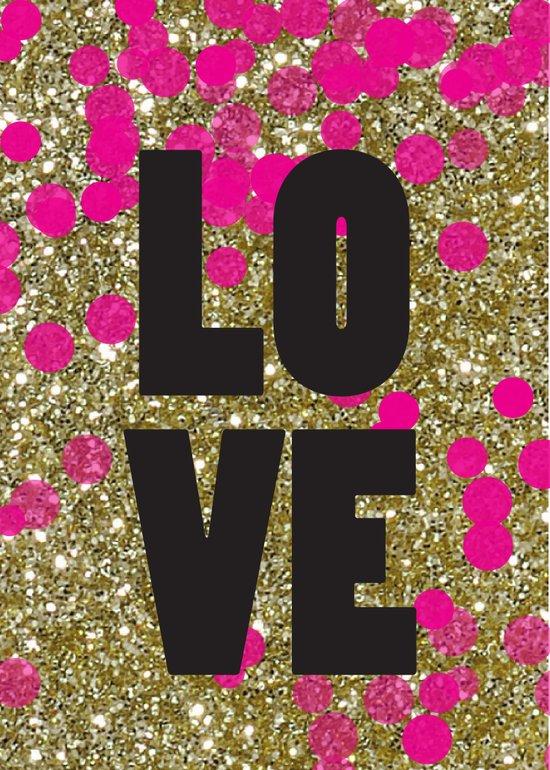 Love in Glitter Art Print