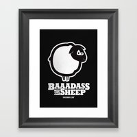 Baaadass The Sheep Framed Art Print