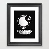 Baaadass the Sheep Framed Art Print