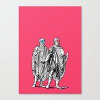 Classic men have a party Canvas Print