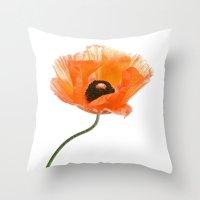 Poppy Flower IV Throw Pillow
