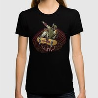 Boba Fett Shreds Womens Fitted Tee Black SMALL