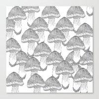 Mushrooms Festival Canvas Print