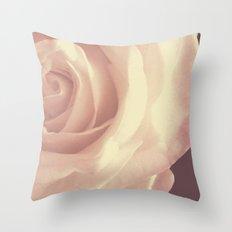Roses are White Throw Pillow
