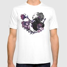 BLOOM White Mens Fitted Tee SMALL