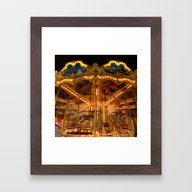 The Carousel. Framed Art Print