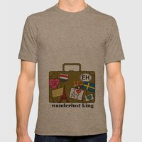Wanderlust King Mens Fitted Tee Tri-Coffee SMALL