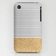 Minimal Gold Glitter Str… iPhone (3g, 3gs) Slim Case