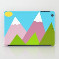 Pines And Pink Mountains iPad Case