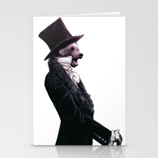 Unbearable gentleman Stationery Card
