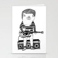 Guitar-Boy Stationery Cards