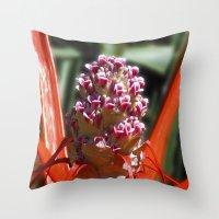 Succulent Blossom I Throw Pillow