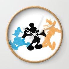 DISNEY MICKEY MOUSE: THE MAGIC TRIO DONALD MICKEY & GOOFY Wall Clock
