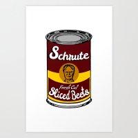 Schrute Fresh Cut Sliced Beets     Dwight Schrute     The Office Art Print