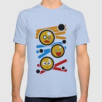 happy smiley trio Mens Fitted Tee Athletic Blue SMALL