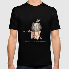 Long live the dead - Raccoon Mens Fitted Tee Black SMALL