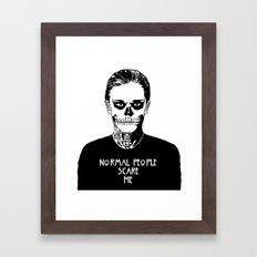 Normal People Scare Me - Tate Framed Art Print