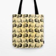 Skulls Pattern Tote Bag