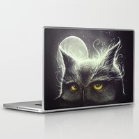 owl Laptop & iPad Skins featuring Owl & The Moon by Dr. Lukas Brezak