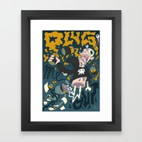 PLUG ME OUT Framed Art Print