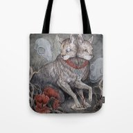 Tote Bag featuring Forget Me Not by Caitlin Hackett