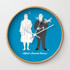 ALFRED'S FAVORITE CAMEOS Wall Clock