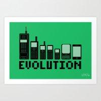 Cell Phone Evolution Art Print