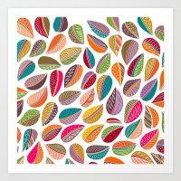Leaf Colorful Art Print