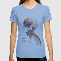 Fashion Illustration Pro… Womens Fitted Tee Athletic Blue SMALL
