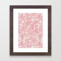 Charming Pink Framed Art Print