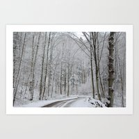 Winter Road Art Print
