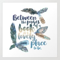 Between The Pages - Feat… Art Print