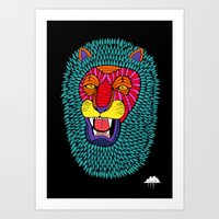 Magic Lion Art Print