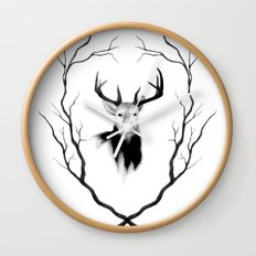 DEER REVISITED Wall Clock