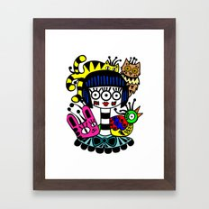 imaginary friends Framed Art Print