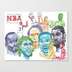 Steven Lebron's NBA Western Conference Preview Canvas Print