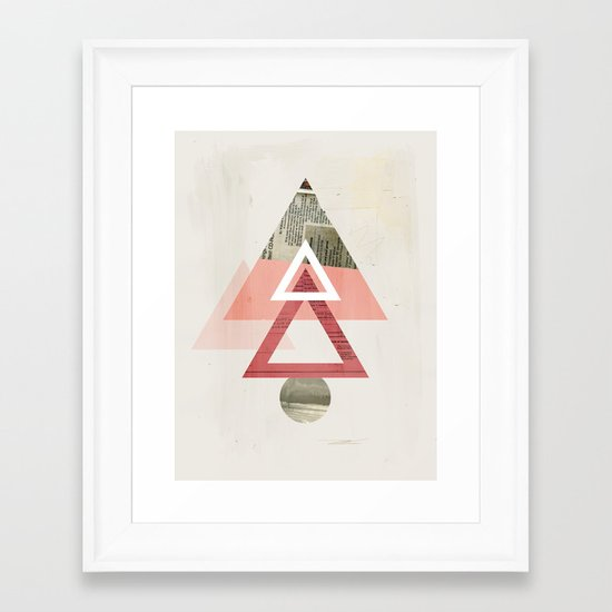 Our Very Modest Christmas Tree Framed Art Print
