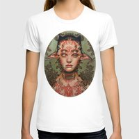 The Dream Thief By Alex … Womens Fitted Tee White SMALL