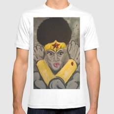 Ebony Wonder White SMALL Mens Fitted Tee