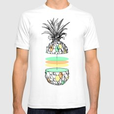 Sliced pineapple SMALL White Mens Fitted Tee
