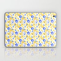 Yellow and Blue Flowers Laptop & iPad Skin