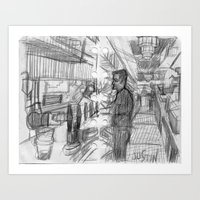 REGULAR EVENING AT A BAR_USA Art Print