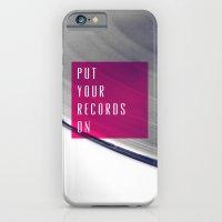 Records - Pink iPhone 6 Slim Case