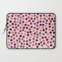 Watercolor Dots_Berry by zJacqueline and Garima Laptop Sleeve