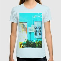 #KEY WEST POETRY By Jay … Womens Fitted Tee Light Blue SMALL
